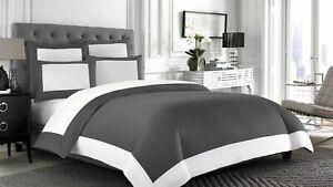 US Cal King & Solid Colors 5 PC Reversible Comforter Set 1000 TC Egyptian Cotton