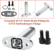 Extended 10 AN Turbo Oil Drain Fitting for T3/T4 Turbochargers Flange Universal