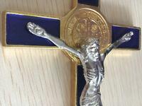 St Benedict Wall Catholic Crucifix Jesus Christon INRI  Cross Wall Decor 7inch