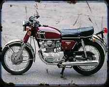 Honda Cb350K4 74 A4 Photo Print Motorbike Vintage Aged