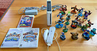 Nintendo Wii Console Bundle With 4 Games, 2 controllers 20 Skylander Figures