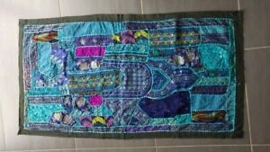 Tapisserie murale indienne bleu/violet