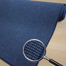 Rug IC Domino Blue Robust flachgwebe, Looped, Textile Backing