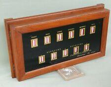Edwardian Antique Glazed Oak Cased 11 Window Servants / Butlers Room Signal Box