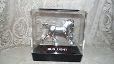 VINTAGE BUDLIGHT BUDWEISER CLYDESDALE HORSE ADVERTISEMENT 1982 DOES NOT LIGHT UP