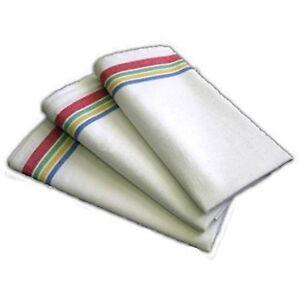 Aunt Martha's Retro Vintage Style Stripe Multi Kitchen Dish Tea Towels Set of 3