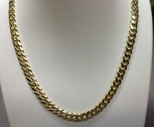 "18k Solid Yellow Gold Miami Cuban Curb Link 24"" 6.7 mm 95 grams chain/Necklace"