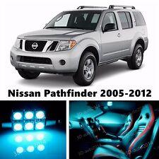 9pcs LED ICE Blue Light Interior Package Kit for Nissan Pathfinder 2005-2012