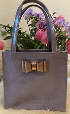 Ted Baker Arycon Bow Detail Small Shopping Double Handled Bag. Dusky Purple.