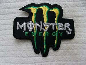 MONSTER ENERGY  NEW EMBROIDERED  IRON ON  PATCHES DIFFERENT STYLES AVAILABLE