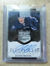 13-14 UD The Cup ARP Autographed Rookie RC Patch TAG Black JACOB TROUBA /3