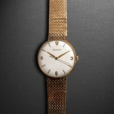 ROLEX PRECISION MADE OF SOLID GOLD WITH THE ORIGINAL GOLD STRAP! MANUAL WIND 1A+