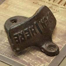Cast Iron Vintage Rustic Style Collectable Wall Mounted Beer Bottle Opener Tool