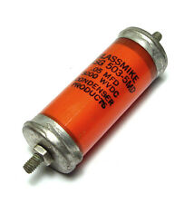 Glassmike Hochspannungs-Kondensator, 0.05 µF / 5000 V, Öl in Glas!