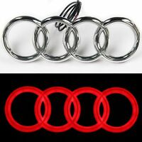 Audi Rings Chrome Grill Front A3 S3 A4 S4 RS4 A5 S5 A6 S6 TT Badge Emblem RED