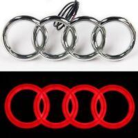 Audi Rings Chrome Grill Front A3 S3 A4 S4 RS4 A5 S5 A6 S6 TT Badge Emblem RED