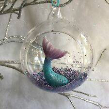 Sass & Belle Flamingo Open Glass Bauble Hanging Christmas Tree Decoration
