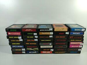 Atari 2600 Games Cartridge Only U Pick Choose Fun Rare Shooter Action Platformer