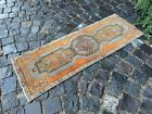 Vintage doormats, Turkish small rug, Hand-knotted wool rug, Carpet |1,3 x 3,9 ft