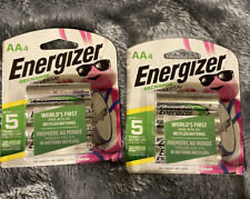 NEW ENERGIZER Rechargeable Batteries AA 4 2pack TOTAL 8 Batteries.  NEW STOCK