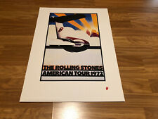 """Rolling Stones """"American Tour 1972"""" Licensed Lithograph"""