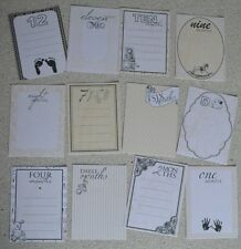 Baby milestone months Journal Card Inserts for boy or girl scrap or baby book