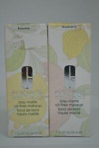Clinique Stay-Matte Oil-Free Makeup BNIB 1fl.oz./30ml ~choose your shade~