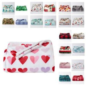The Big One 5'X6' SUPER Soft Plush Throw Blanket Your Choice Free S&H US Seller