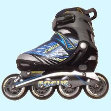 Focus Pulse Adjustable Boys Inline Roller Skates Blades Rollerblades Size 3-6
