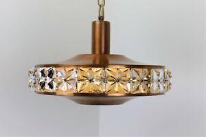 VITRIKA - Monark Pendant in solid Copper with Glass Prism - 1970`s - Denmark