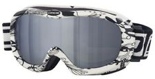 Dirty Dog Scope Ski Goggles Snowboarding White Floral Frame Flash Mirror 54125