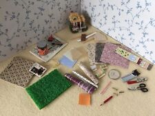 1:12 Scale DECORATING SET Wallpaper/Paint/Tools/Wood/Book/Mini House Dolls House