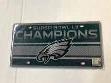 NFL Philadelphia Eagles Super Bowl LII Champions Laser Cut License Plate