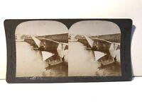 Egitto Cairo Pont Sur Le Nile Foto Stereo Vintage Citrato
