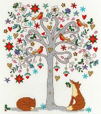 BOTHY THREADS KIM ANDERSON LOVE WINTER CROSS STITCH KIT - NEW XKA13