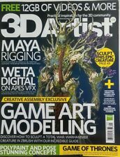 3D Artist UK Issue 109 Game Art Modelling Maya Rigging Animation FREE SHIPPING s