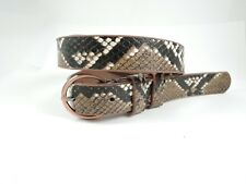 "Ladies Womens Girls Animal Print Snakeskin Faux Leather Belt Size 32"" 36"" Inch"