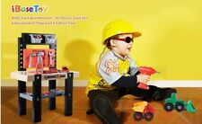 Childrens Kids 91 Piece Work Bench DIY Role Play Toy Set With Tools Drill Xmas