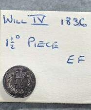 More details for 1836 william iv threehalfpences 1 1/2d silver coin in ef colonial issue. 1.5d836