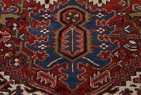 Antique Vegetable Dye Geometric Heriz Serapi Hand-knotted Area Rug Wool 10'x13'