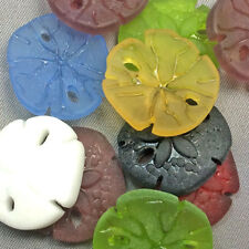 SALE Destash Mixed Sand Dollar Shell Ocean Sea Glass Frosted Charms Pendants