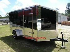 NEW 6x12 6 x 12  V-Nose Enclosed Cargo Trailer w/Ramp