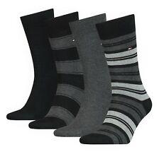 Tommy Hilfiger 4 Paar Herren Socken Classic Stripe Socks Geschenkbox Black NEU