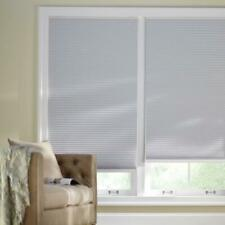 CUSTOM CUT Home Decorators Shadow White 9/16 in. Blackout Cordless Cell Shade