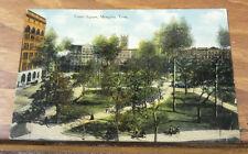 c1912 COLOR Postcard//COURT SQUARE, MEMPHIS, TENNESSEE