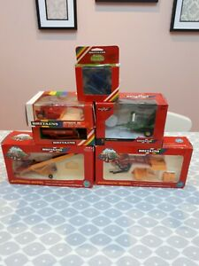 BRITAINS FARM TOYS JOB LOT OF BOXED TRACTOR ATTACHMENTS