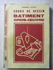 Cours de dessin Batiment gros-oeuvre CAP et Brevet prof du batiment  /V19
