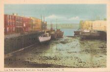 Postcard Low Tide Market Slip Saint John New Brunswick Canada