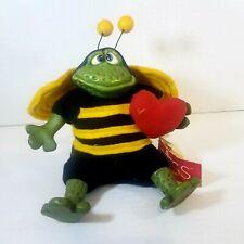 🤩 Valentine's Day Russ Berrie Heart Frog Bee Plush Ceramic Honeycomb Stuffed 7