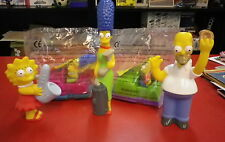 simpsons quick lot 5 figurines auto tamponneuse bart omer maguy